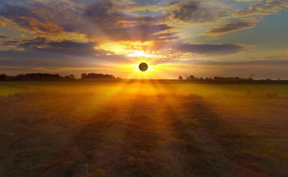 Солнечное затмение в водолее